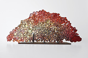 Dreamscape 51 by Mira Woodworth (Art Glass Sculpture)
