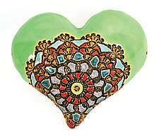 Rumors about Renee by Laurie Pollpeter Eskenazi (Ceramic Wall Sculpture)