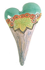 Pushing Up Poppy by Laurie Pollpeter Eskenazi (Ceramic Wall Sculpture)