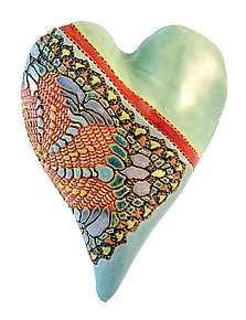 Sea Petals by Laurie Pollpeter Eskenazi (Ceramic Wall Sculpture)