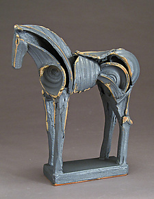 Upright Kawai Tribute Horse by Jeri Hollister (Ceramic Sculpture)