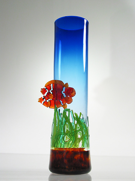 Clown Fish Vase with Sea Grass