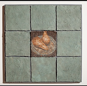 Pear Mosaic by Elizabeth MacDonald (Ceramic Wall Sculpture)