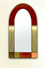 Dome Style Mirror by Lara Moore (Mixed-Media Mirror)