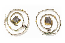 Nido Earrings by Davide Bigazzi (Gold, Silver & Stone Earrings)