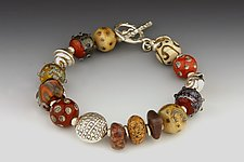 Race Point Terra Cotta Bracelet by Dianne Zack (Beaded Bracelet)