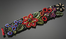 Folk Art Floral Cuff by Julie Powell (Beaded Bracelet)