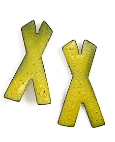 Medium X Stud by Kat Cole (Enameled Earrings)