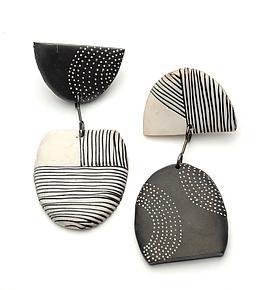 Tribal Earrings by Kathleen Dustin (Polymer Clay Earrings)