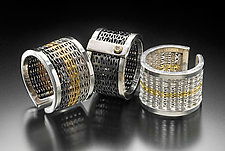 Herringbone Weave Rings by Linda Bernasconi (Gold & Silver Ring)
