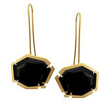 Small Geo Dangle Earrings by Lisa Crowder (Enameled Earrings)