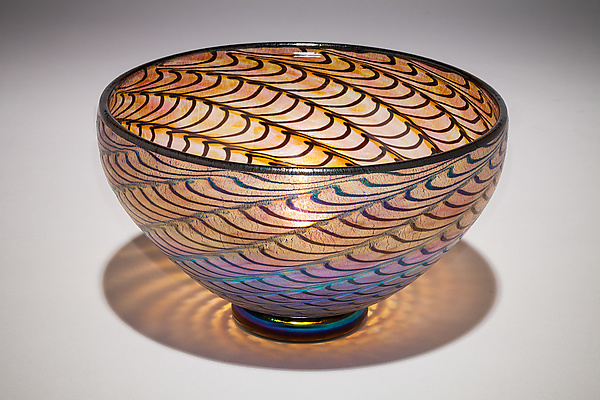 Gold Ruby Lustre Optic Bowl