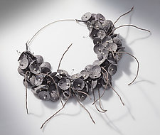 Kozo Necklace by Nancy Raasch (Paper & Pearl Necklace)