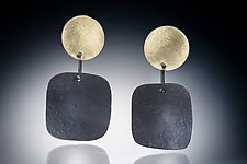 Zor Earring by Nina Mann (Gold & Steel Earrings)