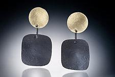 Zor Earring by Nina Mann (Gold & Steel Earrings)