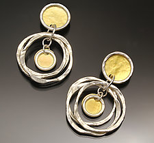 Solar Earrings by Sana  Doumet (Gold & Silver Earrings)