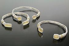 Open Bracelet Trio by Sana  Doumet (Gold & Silver Bracelet)