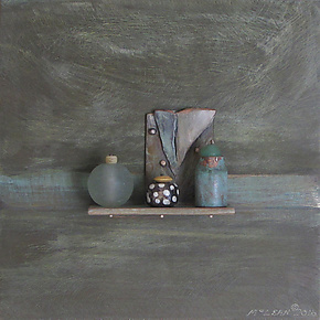 Bronze Still Life 51 by Jack McLean and Alice McLean (Metal Wall Sculpture)