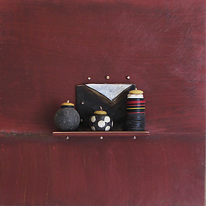 Bronze Still Life 55 by Jack McLean and Alice McLean (Metal Wall Sculpture)