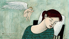 Sleep as Indicated by the Hovering Winged Figure by Brian Kershisnik (Giclee Print)