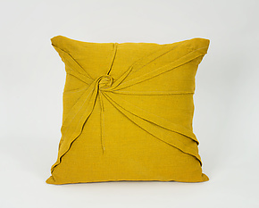 Starburst Pillow in Goldenrod Yellow by Carol Gilbert (Linen Pillow)