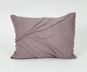 Grass Accent Pillow in Gray by Carol Gilbert (Linen Pillow)