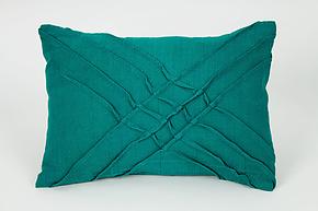 X Pleat Accent Pillow by Carol Gilbert (Linen Pillow)