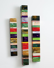 Earth Totems by Gerald Davidson (Art Glass Wall Sculpture)