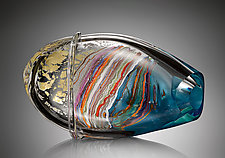 Blue Maglione by Randi Solin (Art Glass Sculpture)