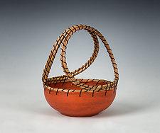 Orange Basket by Hannie Goldgewicht (Ceramic Basket)