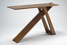 Wedge Table by Eben Blaney (Wood Console Table)