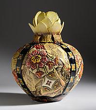 Artichoke Vase by Gail Markiewicz (Ceramic Vase)