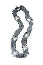 Slate Necklace by Christy Klug (Enameled Necklace)
