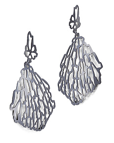 Large Shattered Earrings by Joanna Nealey (Silver Earrings)