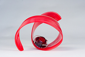 Scarlet by April Wagner (Art Glass Sculpture)