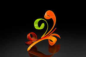 Flambeaux by April Wagner (Art Glass Sculpture)