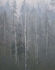 Silver Birch by Mary Jo Van Dell (Oil Painting)