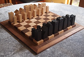 Chess Set by David Kellum (Wood Chess Set)