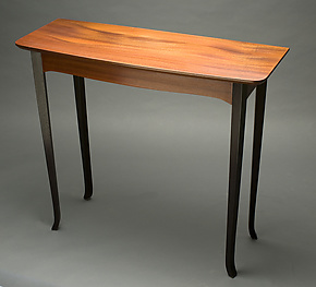 Console Table in Sapele by David Kellum (Wood Console Table)