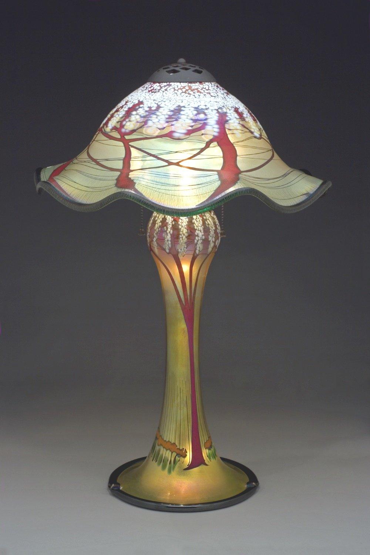 Magnum Cherry Blossom Lamp Ruffled By Carl Radke Art
