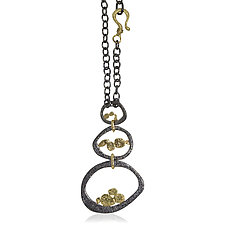 Trio Pendant by Rona Fisher (Gold & Silver Necklace)