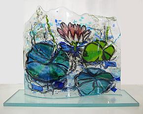 Splendid Beauty by Alice Benvie Gebhart (Art Glass Sculpture)