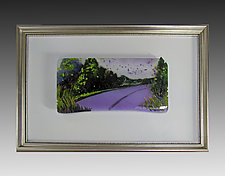 Gentle Curve in the Road by Alice Benvie Gebhart (Art Glass Wall Sculpture)