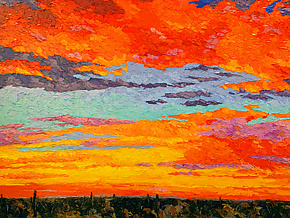Sonoran Sunset by Jeff  Ferst (Oil Painting)
