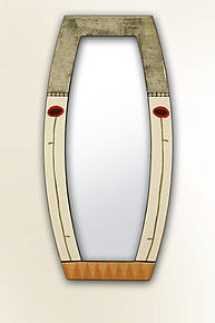 Bella Bella Boat-Shaped Full Length Mirror by Lara Moore (Mixed-Media Mirror)