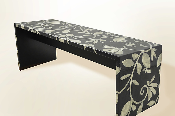 Mother of Pearl Tapestry Bench