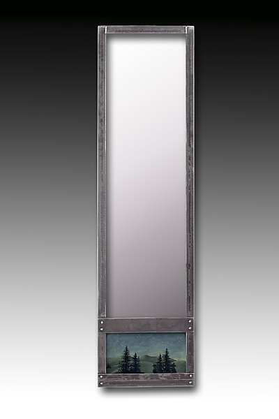Midnight Sky Steel Wall Mirror
