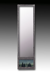 Midnight Sky Steel Wall Mirror by Janna Ugone and Justin Thomas (Mixed-Media Mirror)