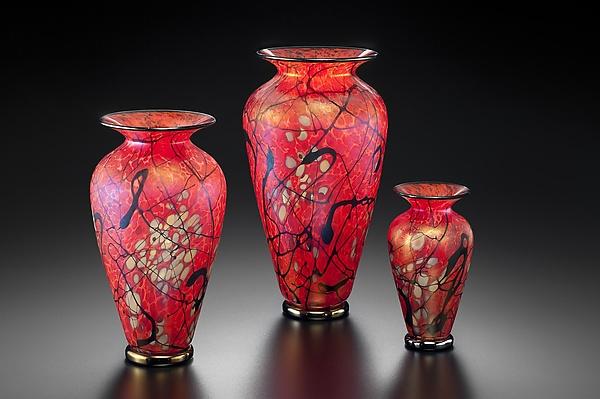 Phoenix Vase By David Lindsay Art Glass Vase Artful Home