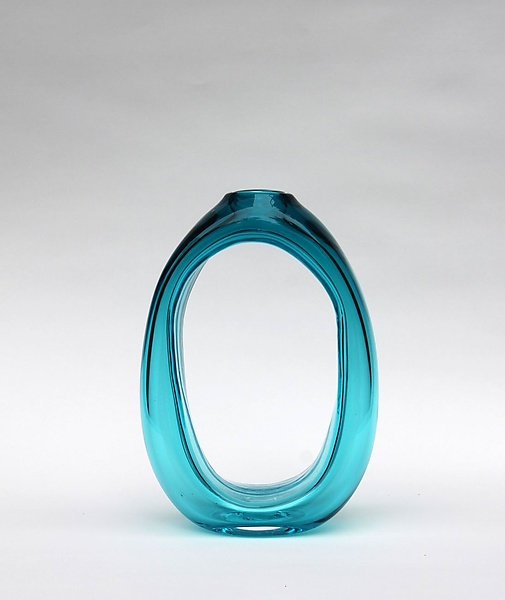 Tall Loop Vase in Teal